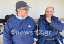 Σπύρος Κόκκινος και πρώην διαιτητής και νυν παρατηρητής Ζανεττής